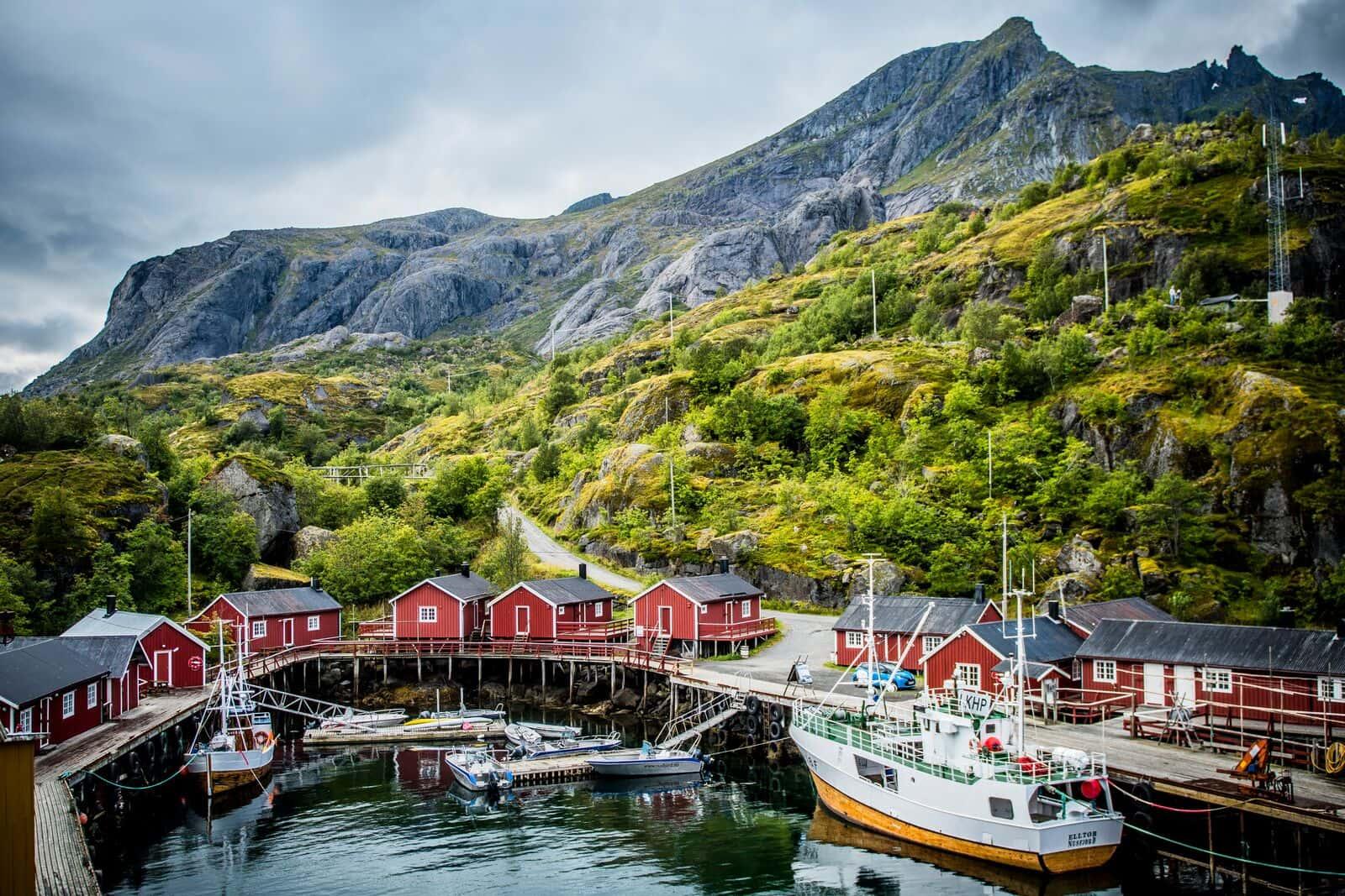Nusfjord en Lofoten Noruega